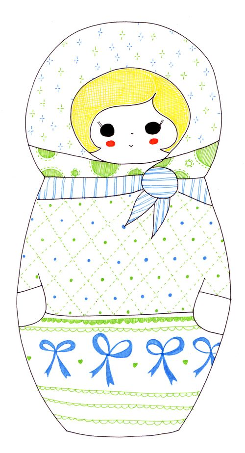 Russian doll pattern copy